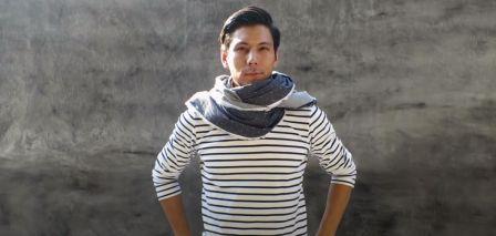 Lungi as shawl
