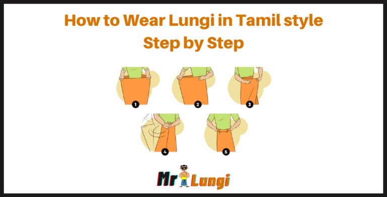 wear lungi in tamil style