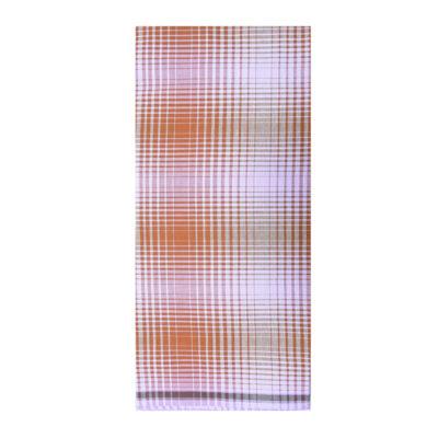 Brown Color Checks Lungi