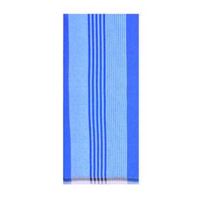 blue color random stripes lungi