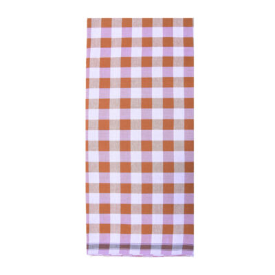 brown color chess lungi