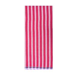 Maroon 1Inch Stripe Lungi