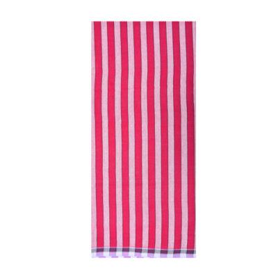 maroon color 1inch stripe lungi