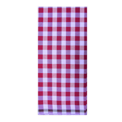 maroon color chess lungi