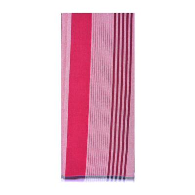 maroon color random stripes lungi