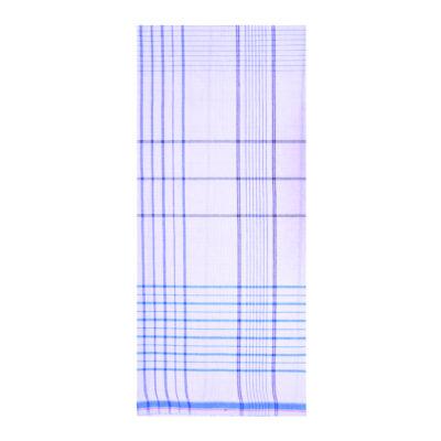 white and blue checks