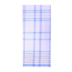 White and Blue Stripe Lungi