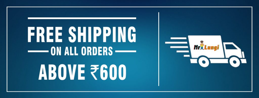 Free shipping over 600 rs